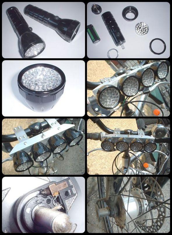 Dynamo Powered Bike LED Lights bike dinamo led bisiklet ledler far