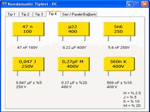Kondansatör tipleri-dc (program)