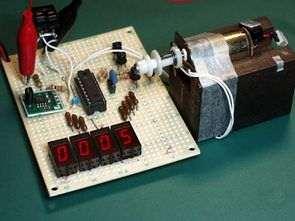 PIC16F84 ile motor devir sayacı