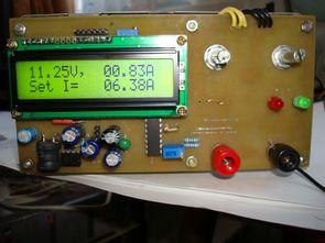 Atmega8 lcd voltmetre ampermetre 3-20v 01-10a güç kaynağı