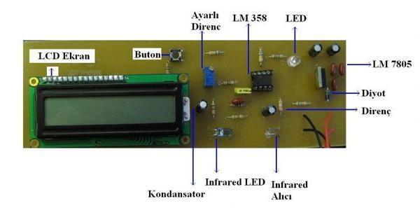 PIC16F628A Pulse Oximeter Circuit lm358 nabiz tip elektronigi mikrobasic