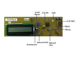 PIC16F628A Parmaktan nabız ölçümü mikrobasic