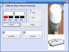 PIC18F4550 ULN2803 Usb ile step motor kontrolü vb6