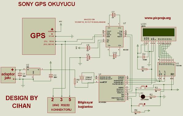 CXD2951GA4 GPS Reader Circuit PIC16F628 reader sony cxd2951ga4 gps