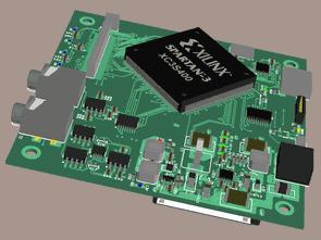 Xilinx spartan fpga uclinux kartı