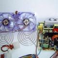 Handmade Transparent Plexiglass  Computer Case 05 pleksiglas transparan kasa ventilator in napajapnik 120x120
