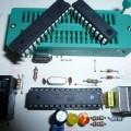 Atmel  USB Programmer Circuit ZIF Socket Usbasp ATmega8 2 atmel atmega8 atmega48 usb programmer zif usbasp 120x120