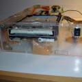 Handmade Transparent Plexiglass  Computer Case 24 pleksiglas transparan kasa cd rom od zunaj 120x120