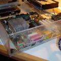 Handmade Transparent Plexiglass  Computer Case 28 pleksiglas transparan kasa vgrajevanje mb 120x120