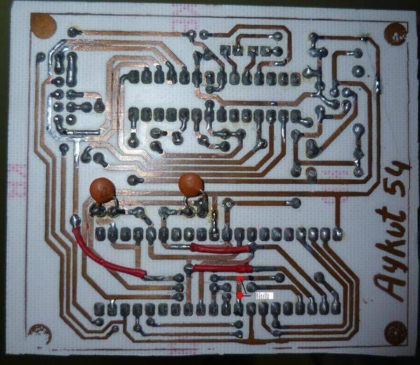 Atmel  USB Programmer Circuit ZIF Socket Usbasp ATmega8 40 pin atmega jumper noktasi