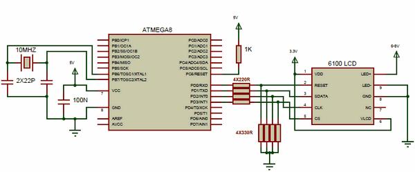 atmega8-nokia-6100-lcd-proteus-isis