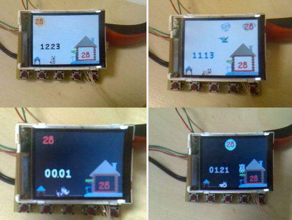 Thermometer Circuit DS1820 ATmega32 Siemens S65 LCD ls020 glcd grafik lcd siemens atmel atmega32