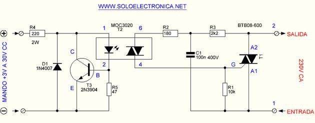 moc3020-triyak-kontrol-ssr-devre-semasi