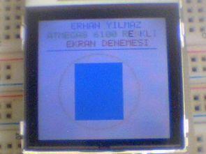 Atmel Atmega8 Nokia 6100 lcd (pcf8833) uygulaması