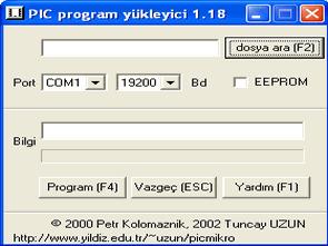 PIC Program yükleyici PIC16F87X downloader