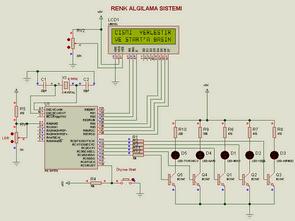 PIC16F876 ile lcd göstergeli renk algılama sistemi
