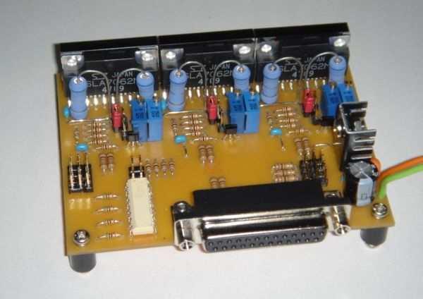 Sla7062m motor control circuit 3 axis cnc project for Cnc stepper motor controller circuit