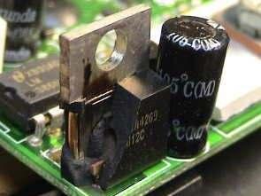 Yanık patlak entegreler devre kartları
