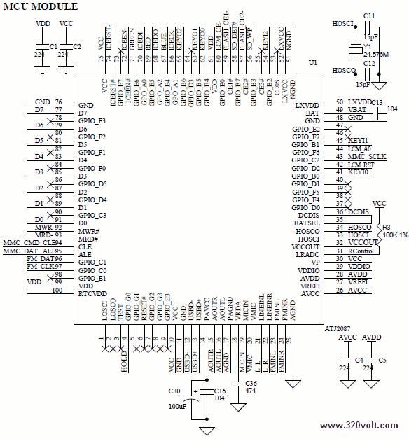 ATJ2087-datasheet-ATJ2087-pinout