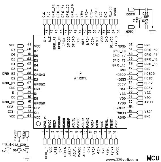 ATJ2111L-datasheet-pinout