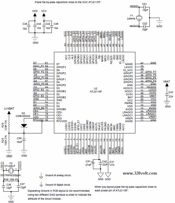 ATJ2115F-datasheet-pinout