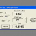 DEFINE-HSER-SPBRG-Bauds-calculator