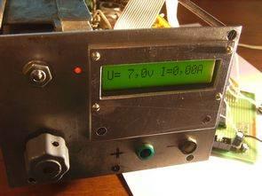 ATmega8 dijital volt amper metre ADC örneği