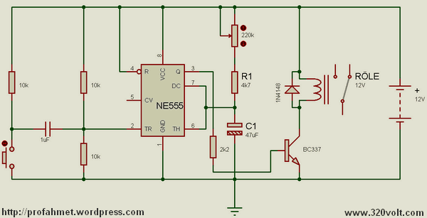 Single Trigger Circuit Ne555 Timer Electronics Projects Circuits