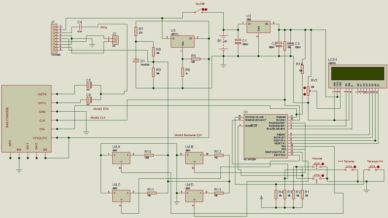 Digital Pll Controlled Fm Radio Circuit Tea5767 Receiver Pic16f628 Rgb Led Control Schematic Proteus Isis Dijital 120x120