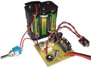 TDA7056AB stereo amplifikatör devresi (pil beslemeli)