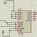 74LS160 Seri bağlantı örneği