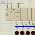 74LS164 shift register çalışma örneği