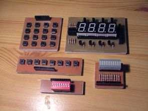 AVR Testleri deneyleri için çeşitli modüller
