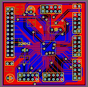MSP430F149 Breakout Board Protel PCB msp430f149 pcb