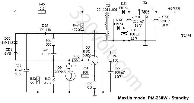 atx smps sg6105 maxpower px 300w
