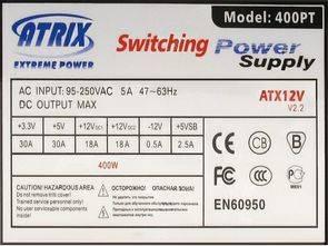 ATX 400W UC3842 M605 KA339 Colors iT 400PT Switching Power SMPS
