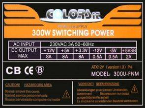 ATX SMPS Colors iT 300UFNM Switching Power SG6848 SG6105