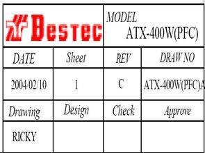 Bestec ATX 400W PFC ICE1PCS01 UC3842
