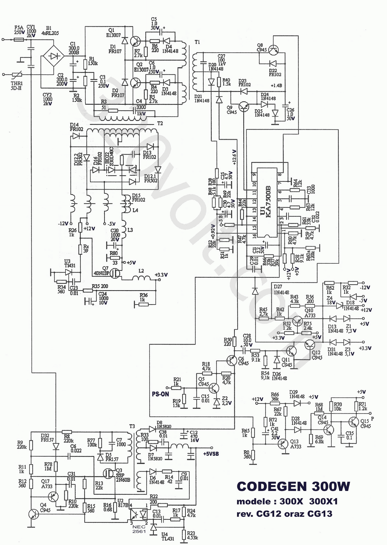 Atx Smps Circuit Diagram Manual Guide Wiring Pictures To 30a Power Supply Schematic Get Free Image About 450w Pdf