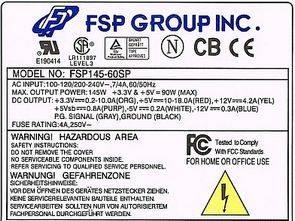 KA3511 1H0165R SMPS ATX FSP Power Man FSP145-60SP