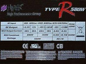 NCP1653 SMPS HIPER 580W ATX HPU4K580