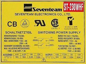 Seventeam TL494 LM339  ATX  ST230WHF 230W SMPS