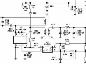 UC3845 VIPer22A  PS113 CWT PUH400W ATX SMPS