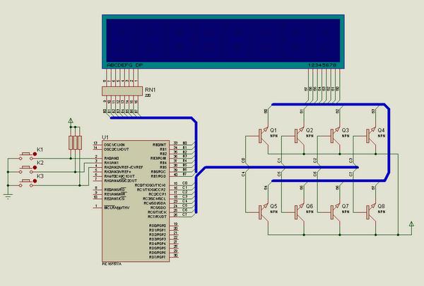 Variable number of display Hi Tech C Example hi tech c degisken hitech sayisinin pic16f877 display ile gosterilmesi
