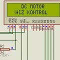 LCD Göstergeli DC motor kontrol devresi (pic16f877a)
