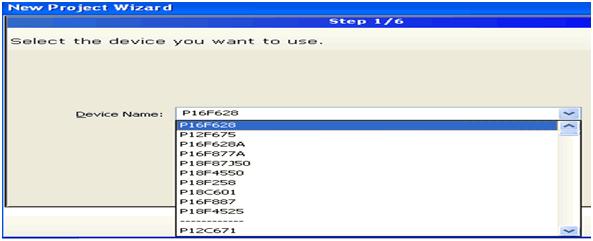 mikroc-islemci-secimi-device-name-pic16f628