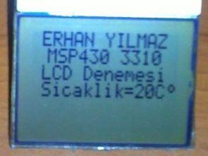 MSP430 Launchpad kit ile Nokia 3310 lcd uygulaması sıcaklık ölçümü