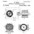 Nikola Tesla çizimleri tasarımlar elektronik elektrik (patent)