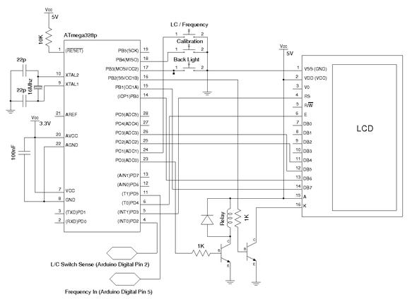 Frequency Meter Circuit LCR Meter ATmega328 atmega328 lcd LCMeter MCU