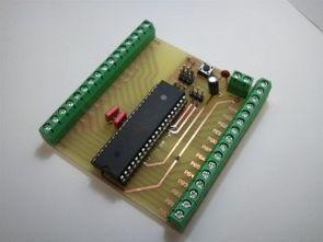 ATMega32A için basit deney kartı (BreakoutBoard)